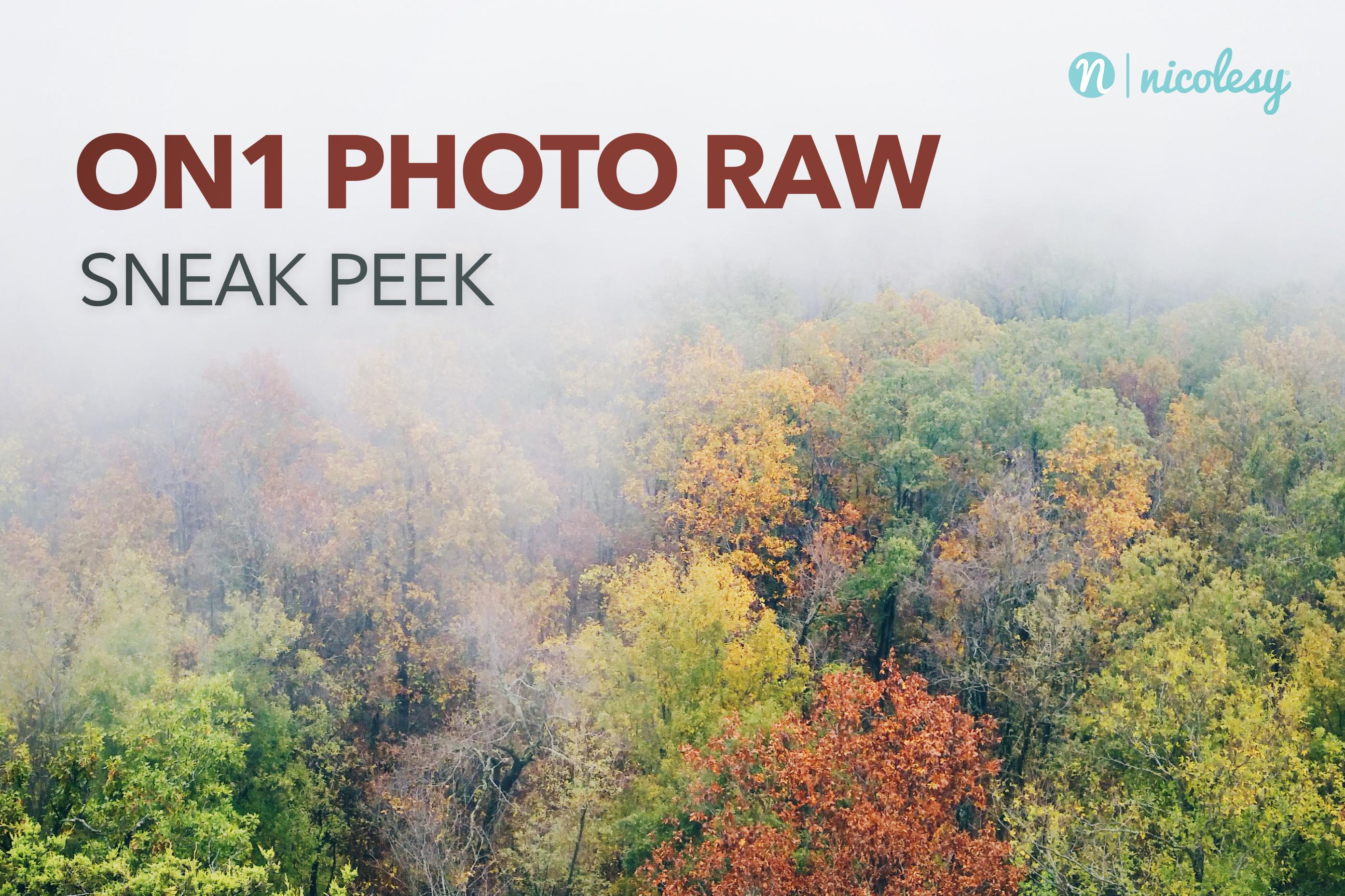 Sneak Peek: ON1 Photo RAW